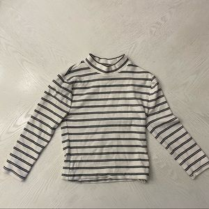 Forever 21 Thick Material Striped Long Sleeve